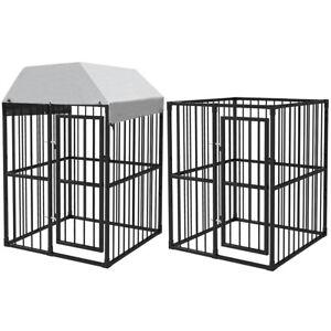 Recinzione Per Cani Giardino.Vidaxl Gabbia Cani Recinto Recinzione Per Animali Giardino Con E
