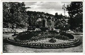 Ansichtskarte-Bad-Liebenstein-Partie-im-Kurpark-Cramers-Kunstanstalt-1937