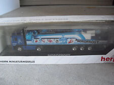 RARE Herpa Private HO 1/87 MB Actros LH HZ Nordfrost Tractor Trailer Truck NIB