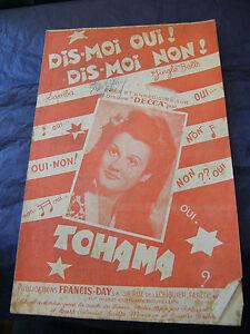 Partition-Dis-Moi-Oui-Dis-Moi-Non-Tohama-Music-Sheet-1948