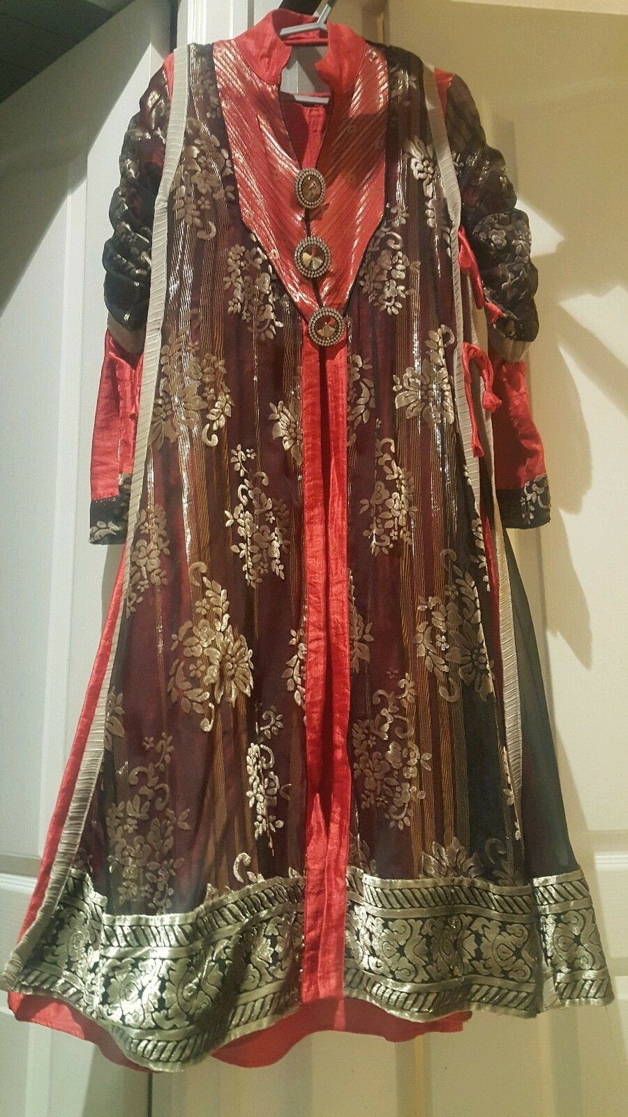 Asian Eid party dress red and black