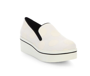 Image is loading Stella-McCartney-39233-Binx-Polka-Dot-Platform-Loafers-