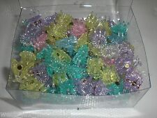 Mini Flower Shiny Glittery Cute Plastic Hair Snap Claw Styling Lot of 1152 Clips