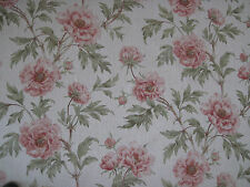 "COLEFAX AND FOWLER FABRIC DESIGN ""Tree Peony"" 1.2 METRES TOMATO & OLIVE"