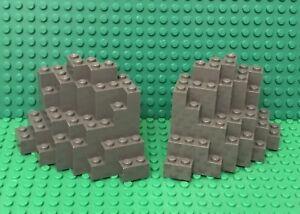 LEGO Dark Bluish Gray Rock Panel 4x10x6 Rectangular BURP Lot of 5 Parts Pieces