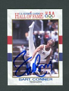 U-S-Olympic-Cards-Autographed-Signed-Bart-Conner-Gymnastics-jh33