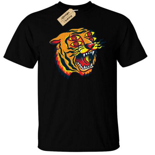 Tiger T-SHIRT HOMME HYPNOTIQUE mystique Trippy acide