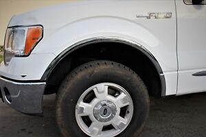 Fits 05-14 Dakota Truck Chrome Fender Trim Flare Molding Set