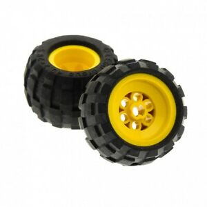 43.2 x 28S tire balloon small Yellow 4 Lego Technic Mindstorms Wheels Lot