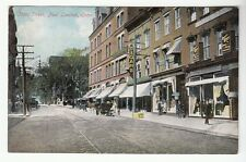 [53817] OLD POSTCARD STORE FRONTS ON STATE STREET IN NEW LONDON, CONNECTICUT