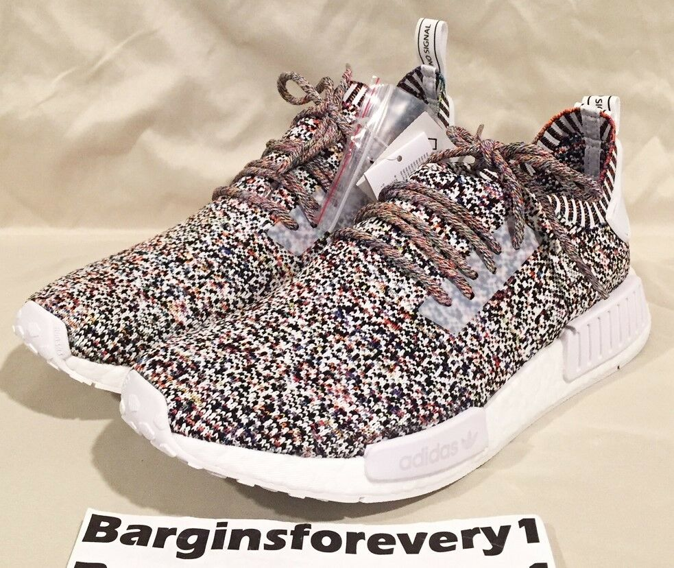 New Men's Adidas NMD_R1 PK - BW1126 - Size 10.5 - color Static Rainbow