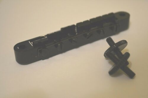 New Black Tune-O-Matic Guitar Bridge w/ Adjusting Screws Stratocaster Pro