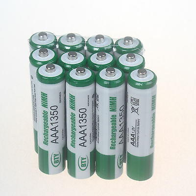 12 Pcs AAA 1350mAh Ni-MH Rechargeable Battery Batteries for Camera Toys
