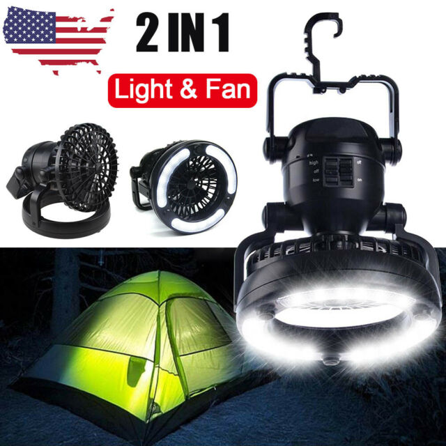 18 LED Tent Camping Light Lamp with Ceiling Fan Hand Held /& Hanging Hook UK