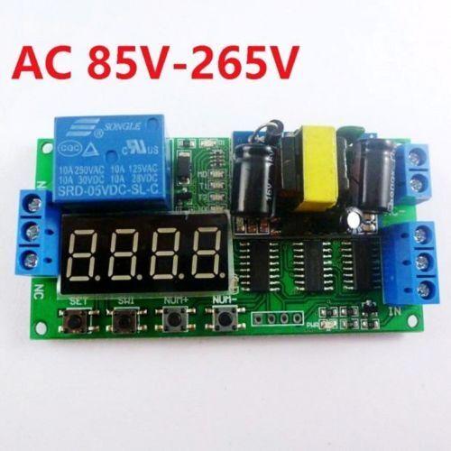 AC 110V 220V Converter Multifunction Self-lock Relay PLC Cycle Timer Module Dela