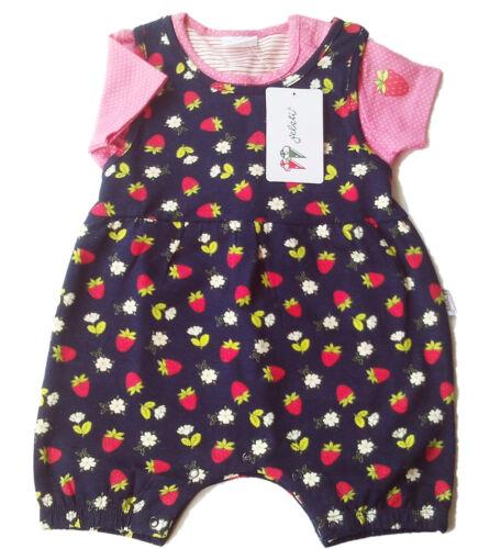 Strampler Set kurz Gr.86 Gelati NEU blau pink Erdbeer spieler shirt baby sommer