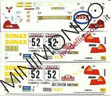 DECALS MITSUBISHI LANCER EVO 6 ULTRON RALLY SANREMO 1999 STAGNI 1/43 RACING43