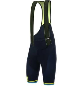 Santini TONO 2.0 Bib Shorts Radfahren Gelb Blau XS T3