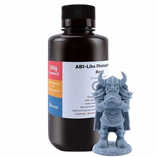 ELEGOO ABS-Like 3D Printer Resin, 405nm UV-Curing LCD Resin Grey 500G