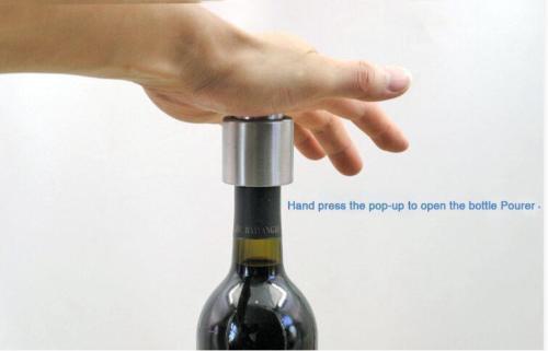 Bouchon de bouchon bouteille de vin rouge scellé sous vide en acier inoxydable H