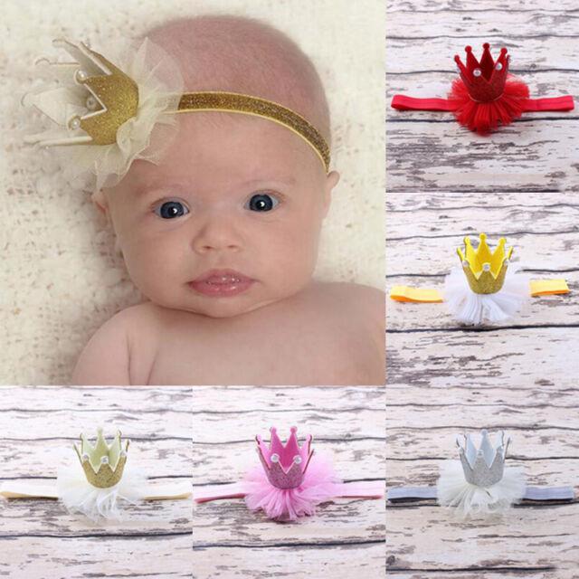 1Pc Beautiful Flower Crown Headwear Princess Queen Hair Band for Girl Baby