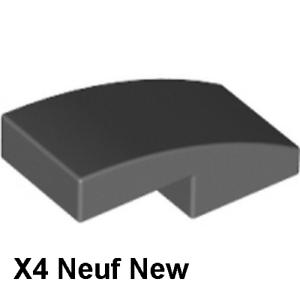 Lego 4 Brique profilée gris f 1x2 Neuf Dark Bluish Gray curved slopes NEW 11477