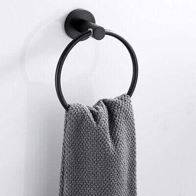 Modern Round Towel Ring Wall Holder Hanger Bathroom Hardware Bath Accessories