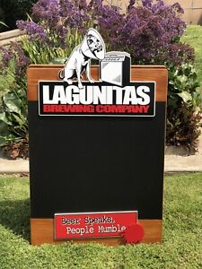 Details about Lagunitas Brewing Company A-Frame Chalkboard Beer Bar Menu  Board