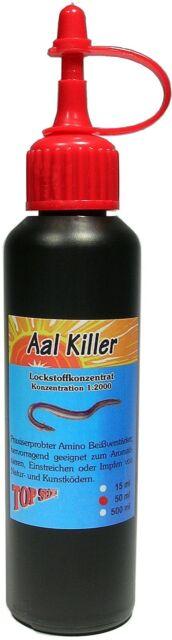 Aal Killer 50ml Top Secret Aalkiller Amino Lockstoff für Aal Magnet Tauwurm