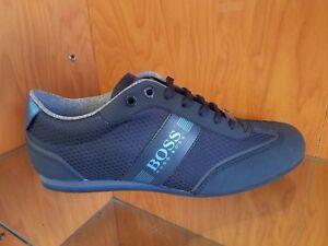BOSS HUGO BOSS Lighter Lowp Logo Trainers Logo In 401 Dk Blue