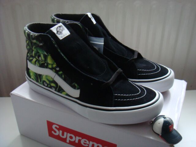 2891154d2e Supreme x Vans Skull Pile SK8-Hi US 12 UK 11 Glow Fear Of God Era ...