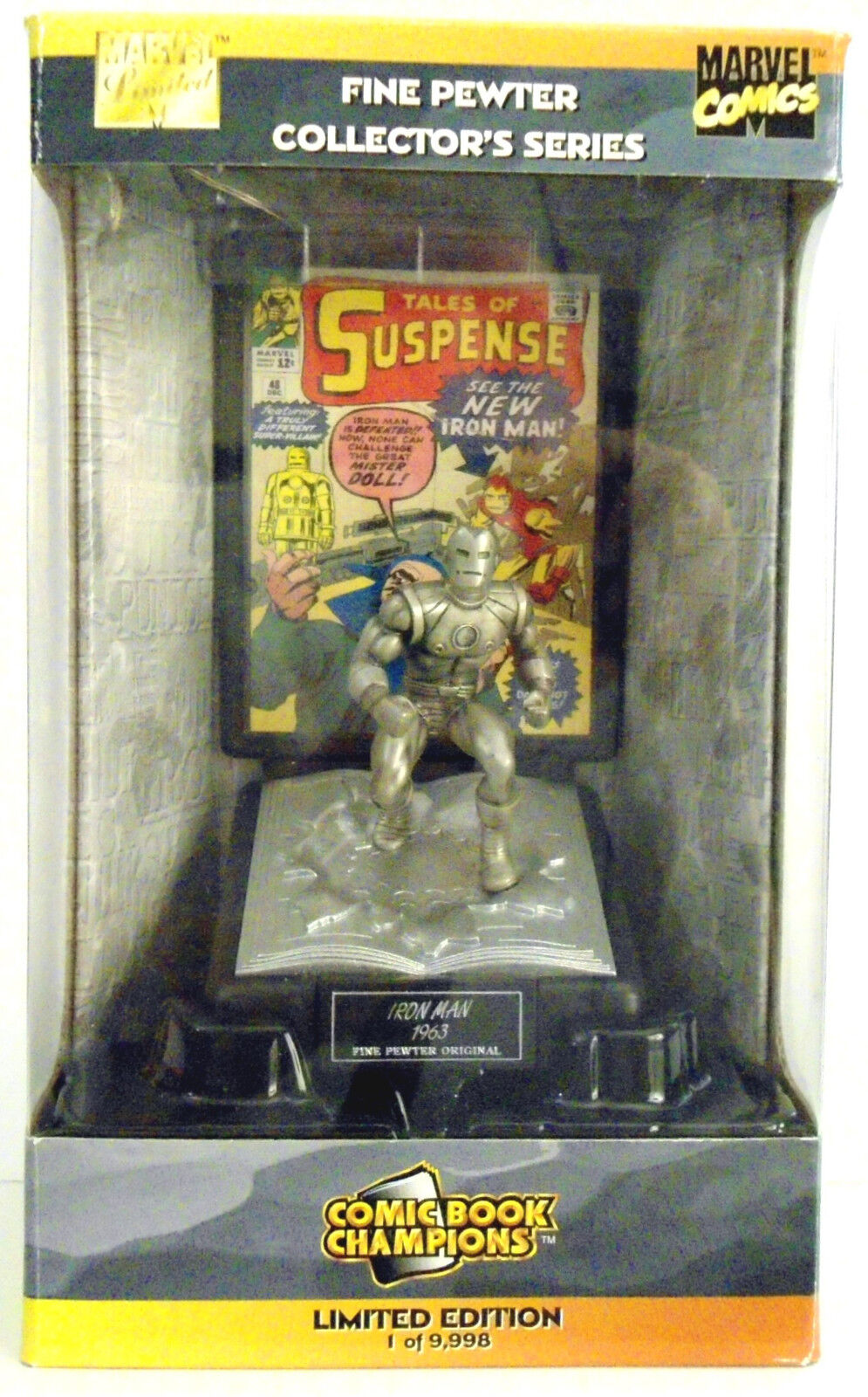 IRON MAN Limited Edition Pewter Figure by Comic Book Champions, 1998.