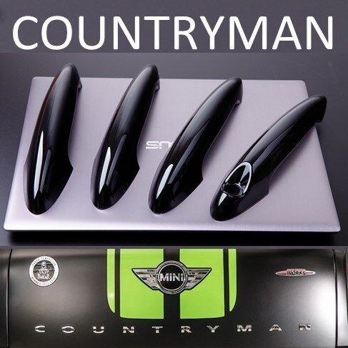 US STOCK 4x GLOSS BLACK Door Handle Covers MINI R60 11-16 COUNTRYMAN Cooper S