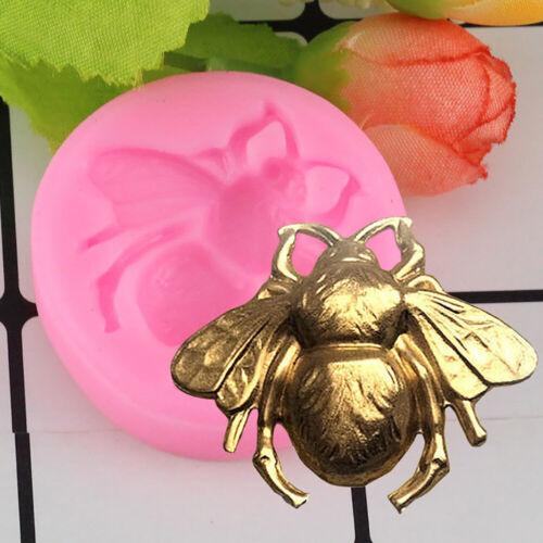 Silikon Lebensmittelqualität Biene Kuchenform DIY Ton Sugar-craft Fondant