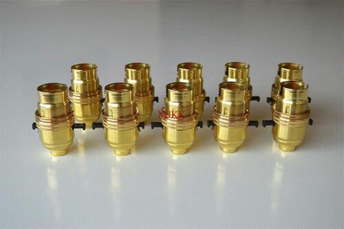10 B22 Sécurité commuté à baïonnette en laiton porte-ampoule de lampe de table avec abat-jour Ring L9