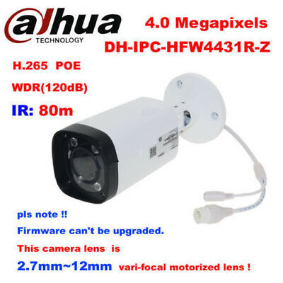 Dahua IPC-HFW4431R-Z 4MP POE Bullet Camera Support IVS Face Detection Car Detect