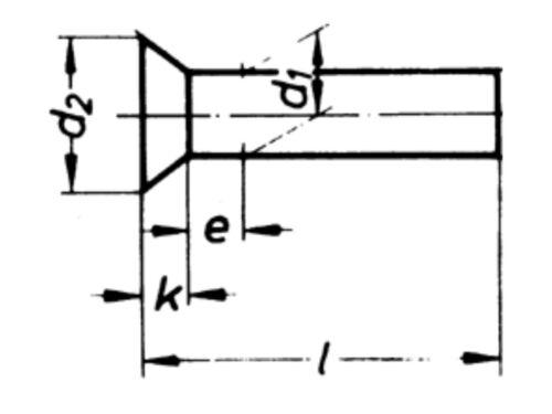 neu! Senkniete DIN 661 4 x 16 mm Stahl verzinkt