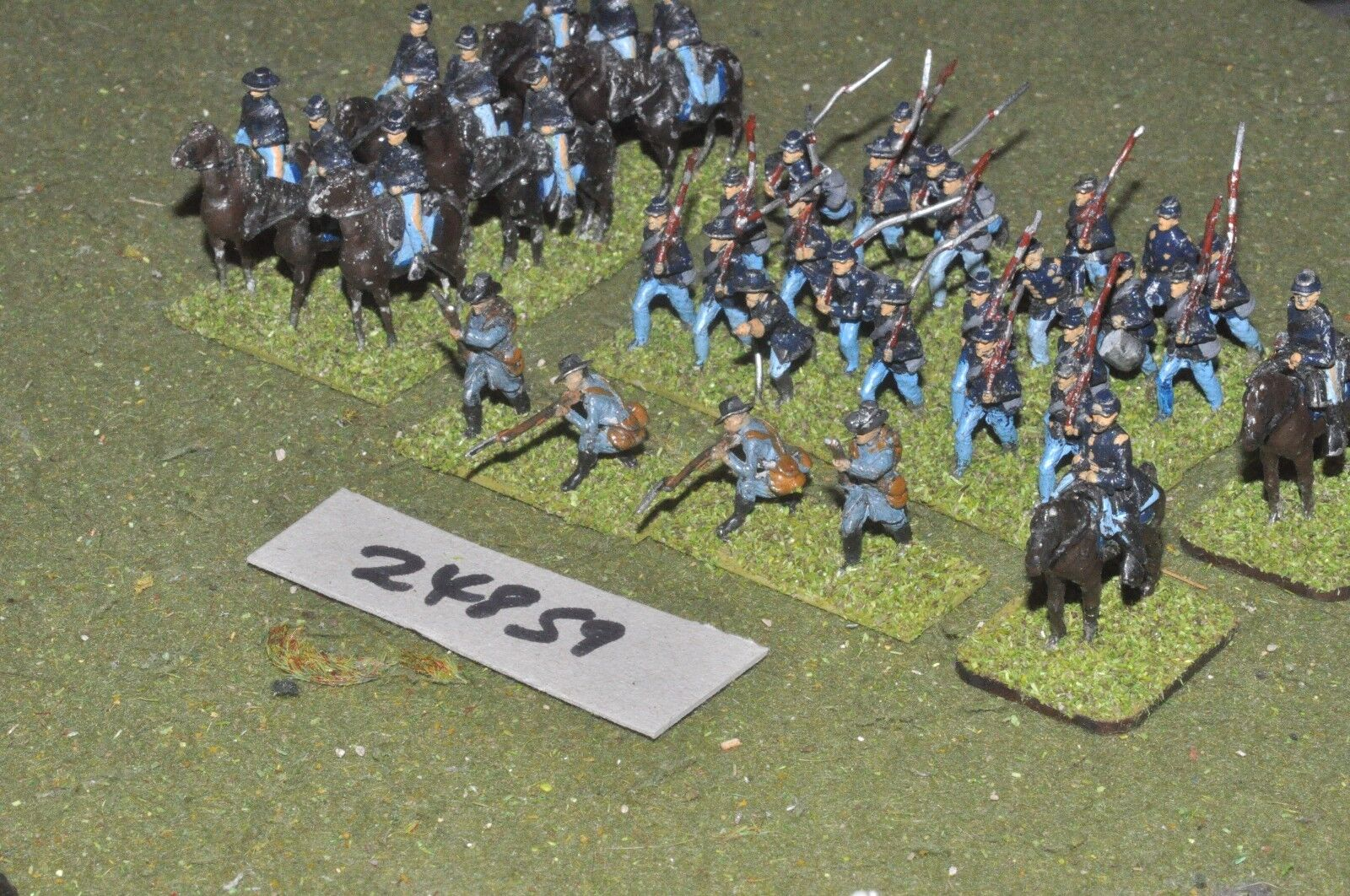 25mm ACW   union - battle group 37 figures - inf (24859)
