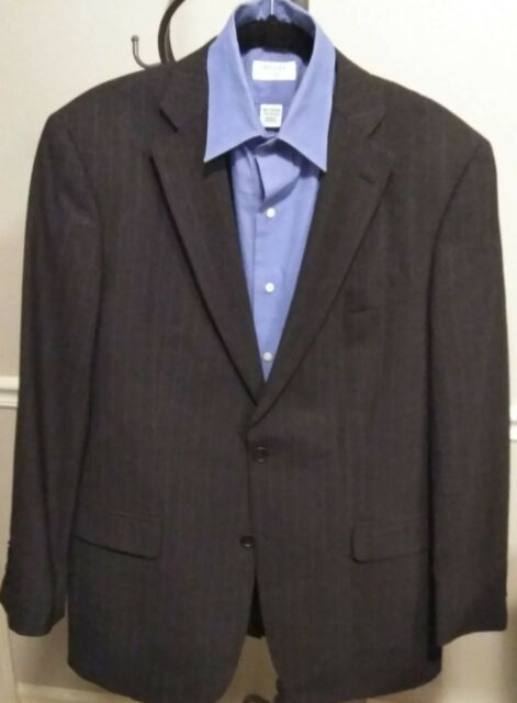 promo codes buy online lowest price Designer Men Brooks Brothers 346 Stretch Gray Pinstripe 2 Button Suit  Jacket 42R