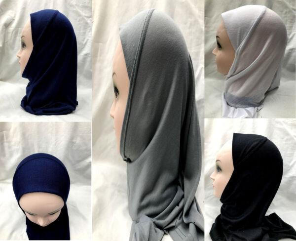 100% De Calidad Muslim Kids Girls Hijab Islamic Headscarf Kids School Children Hijab One Piece