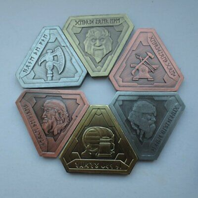 RPG Fantasy Dwarven Dwarf Coin Set- LARP Game Role Playing