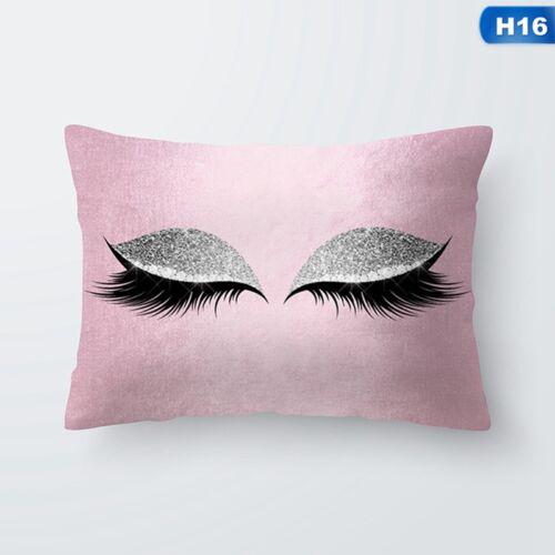Glitter Eyelash Lash Throw Bed Pillow Case Cushion Cover Home Sofa Car Decor UK