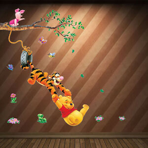 wandtattoo wandsticker winnie pooh tigger wandaufkleber kinderzimmer ebay. Black Bedroom Furniture Sets. Home Design Ideas