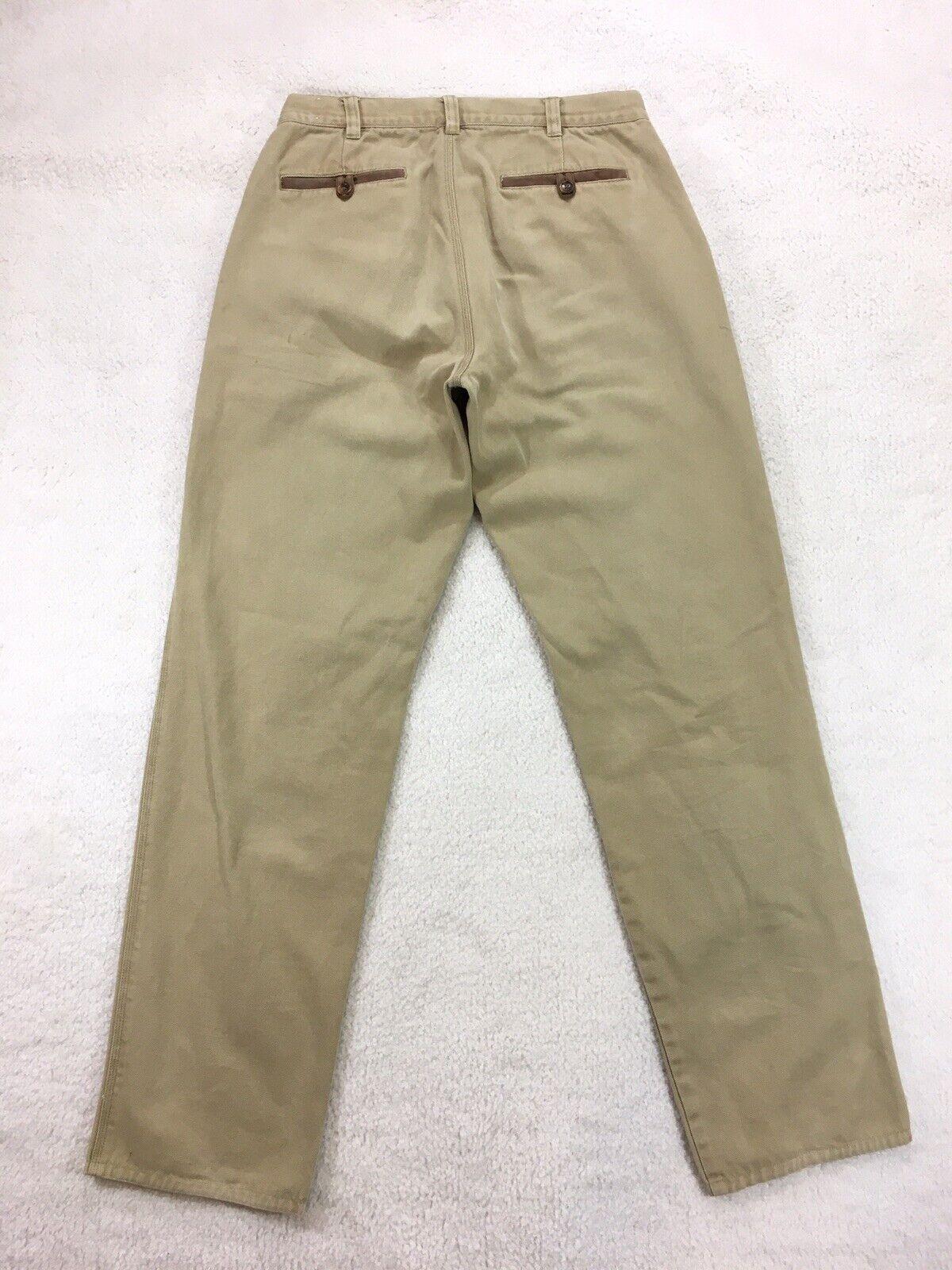 ORVIS Khaki Tan Canvas Cotton Heavy Duty Outdoor Work Pants Men's 32x33