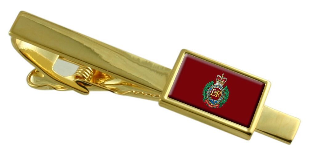Militare Corps Of Royal Royal Royal Engineers Colore oro Fermacravatta Inciso 683d0f