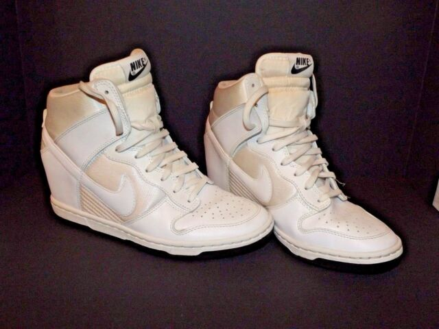 check out 59f1b 58381 Nike Dunk Sky Hi Essential Hidden Wedge Off White 644877-101 Women s Size  7½ (