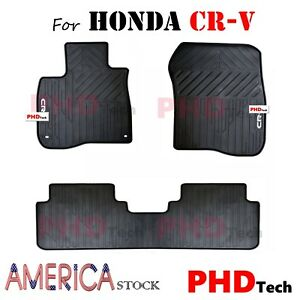 honda crv cr   weather tailored rubber car floor mats   ebay