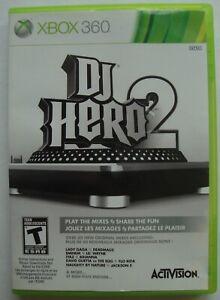 DJ HERO 2 XBOX 360 MICROSOFT GAME  *