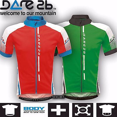 DARE2B MAGNETIZE Mens Short Sleeve Cycling Cycle Bike Top Jersey