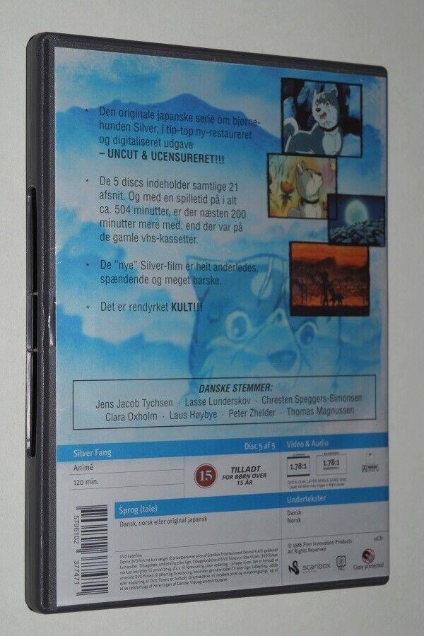 Silver Fang Afsnit 17-21 - Med dansk tale, DVD, tegnefilm
